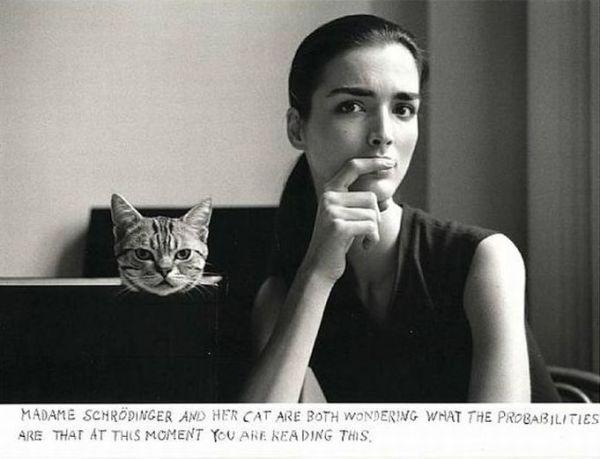 Duane Michals, Madame Schroedinger's Cat, 1998