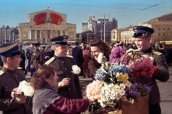 День Победы, Москва, 1945 г.